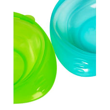 Mothercare First Tastes Weaning Bowls 2 Pack - Blue