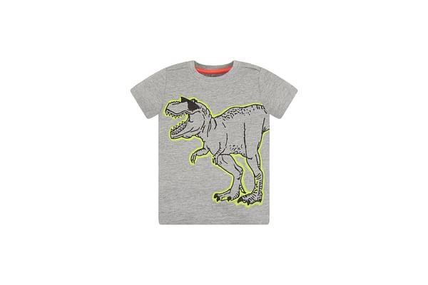 Grey And Lime Dino T-Shirt