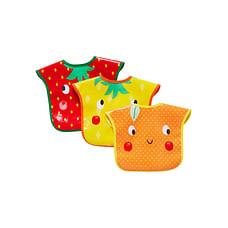 Mothercare Fruit Slogan Oil Cloth Toddler Bibs