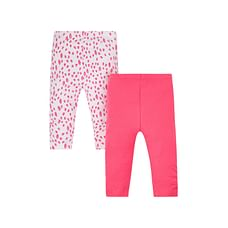 Pink Floral Leggings - 2 Pack