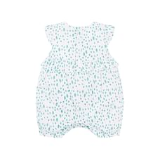 White And Aqua Butterfly Romper