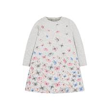 Grey Butterfly Jersey Dress