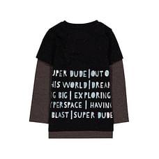 Black Super Dude Mock Layer T-Shirt