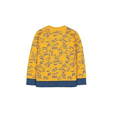 Yellow Truck Print Knitted Jumper