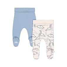 Boys Dino Print Leggings - Pack Of 2 - Multicolor