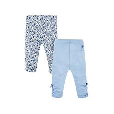 Blue Floral Leggings - 2 Pack
