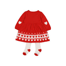 Heritage Knitted Robin Dress And Tights Set