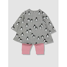 My K Penguin Dress And Leggings Set