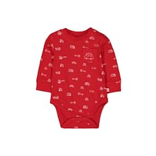 Boys Full Sleeves Vehicle Bodysuit - Red