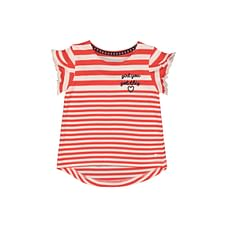 Red Striped Frill T-Shirt