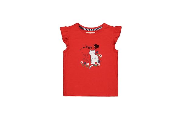 Red Sequin So Happy Right Meow Cat T-Shirt
