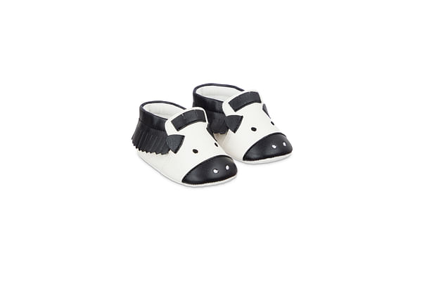 Boys Zebra Novelty Pram Shoes - Multicolor