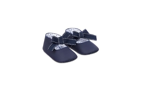 Girl Pram Shoes  Navy