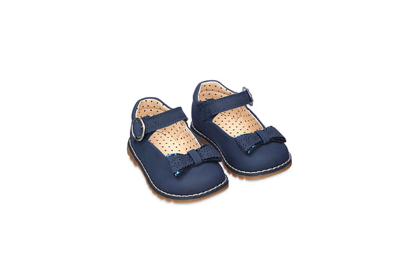First Walker Navy Mary Jane Shoes
