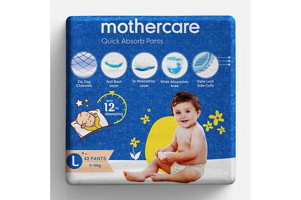 Mothercare Quick Absorb Diaper Pants Large- 42 Pcs