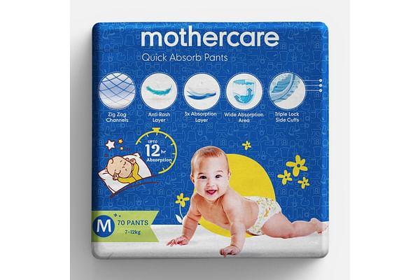 Mothercare Quick Absorb Diaper Pants Medium- 70 pcs