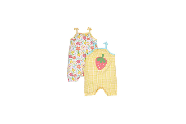Girls Rompers - Pack Of 2 - Multicolor