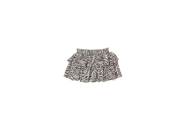 Girls Zebra Print Skirt - Multicolor