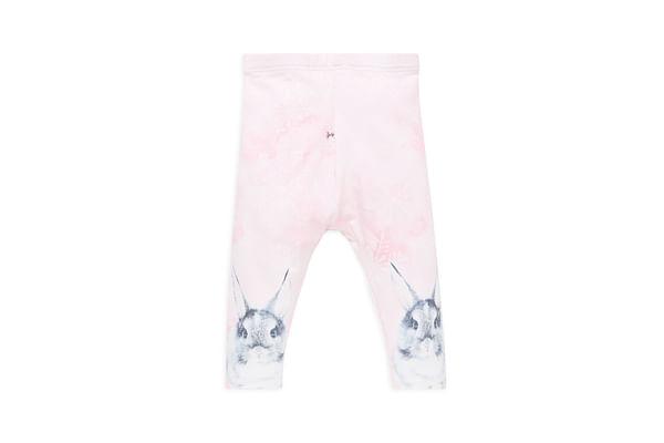 Girls Photographic Bunny Leggings - Pink