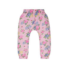 Girls Floral Hareem Trousers - Pink