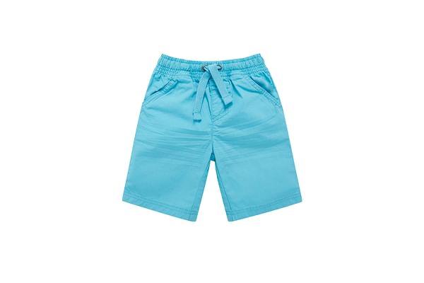 Boys Poplin Shorts - Turq