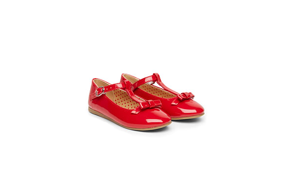 Girls T Bar Shoes - Red