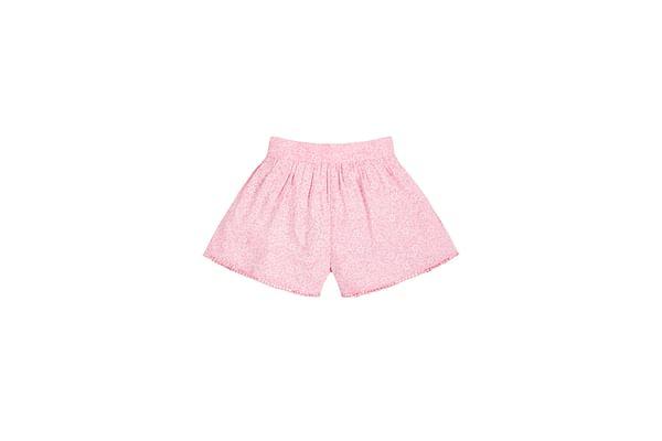 Girls Floral Shorts - Pink