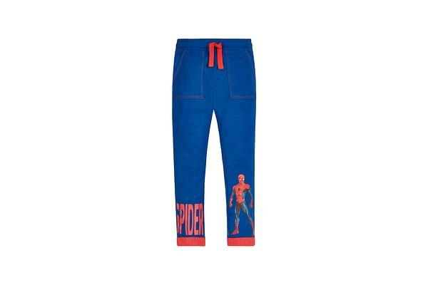 Boys Marvel Spiderman Jersey Trousers - Blue