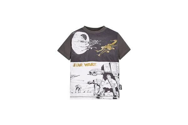 Boys Star Wars Galaxy T-Shirt  - Black