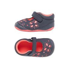 Girls First Walker Crawler Shoes - Navy