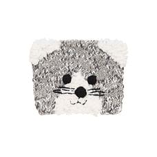Girls Novelty Cat Beanie - Grey