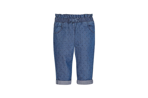 Girls Paperbag Waist Jeans - Blue