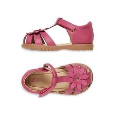 Girls Closed Toe Flower Sandals - Pink