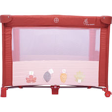 R For Rabbit Hide And Seek Baby Travel Cot Maroon