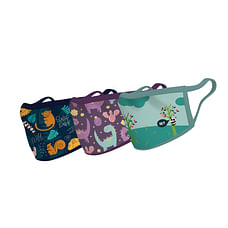Unisex Animal Kingdom Face Mask-pack of 3-Multicolor