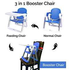 R For Rabbit Jelly Bean Booster Chair Blue