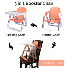 R For Rabbit Jelly Bean Booster Chair Orange