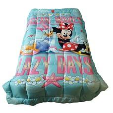 Wiggle wink Minnie Mouse Ocean Waves Single Comforter