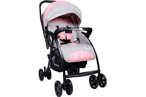 R For Rabbit Sugar Pop Baby Strollers Pink Grey
