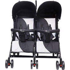 R For Rabbit Ginny And Johnny Twin Strollers & Prams Grey
