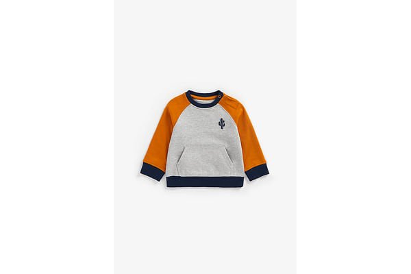 Boys Full Sleeves Sweatshirt Embroidered - Grey