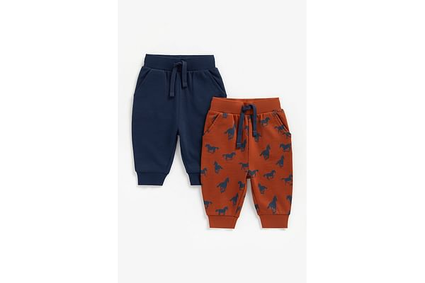 Boys Joggers Horse Print - Pack Of 2 - Multicolor