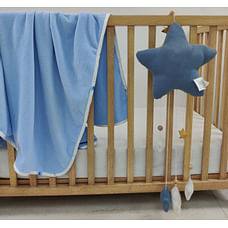 Shooting Star Fleece Baby Blanket Blue
