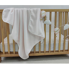 Shooting Star Fleece Baby Blanket Light Pink