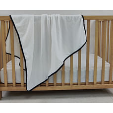 Shooting Star Fleece Baby Blanket White