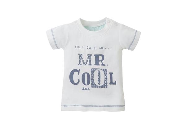 Boys Half Sleeves T-Shirt Text Print - White