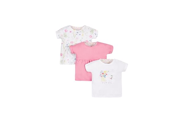 Girls Floral Tops - Pack Of 3