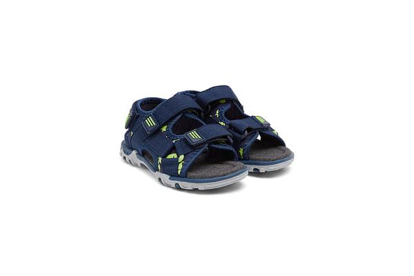 Boys Blue Dinosaur Print Trekker Sandals