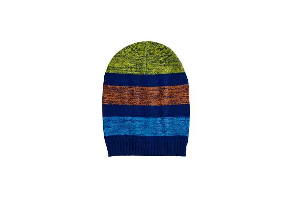 Boys  Stripe Slouch Beanie - Multicolor
