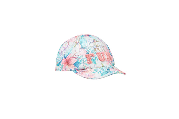 Girls Floral Fun Cap - Green